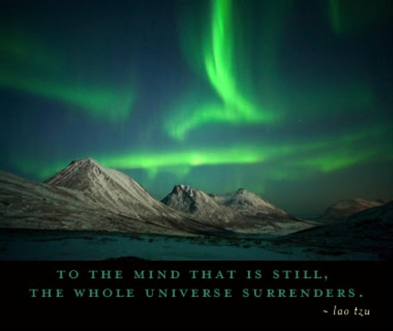 Dem Geist, der still geworden ist, übergibt sich das ganze Universum